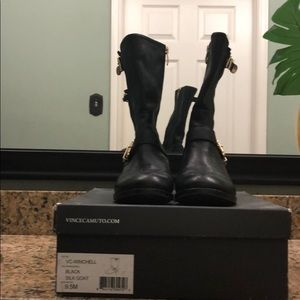 Vince Camuto Winchell Moto Boot-Black Sz 9.5